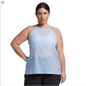 NWT Nike Women 1X Flex Dri-Fit Loose Fit Tank blue